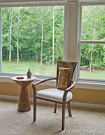 Free Interior Setting By Window Showing Outside View Stock Image - 8827771