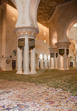 Interior of Sheikh Zayed Mosque