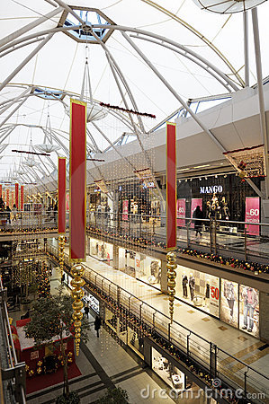 Interior of a shopping mall Editorial Stock Photo
