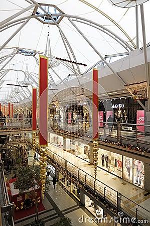 Interior of a shopping mall Editorial Stock Photo
