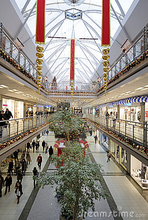 Interior of a shopping mall Editorial Stock Image