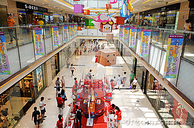 Interior of shopping mall Editorial Photo