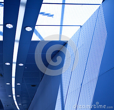 Interior with skylight