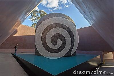 Interior Skyspace sculpture. Canberra. Australia Editorial Image