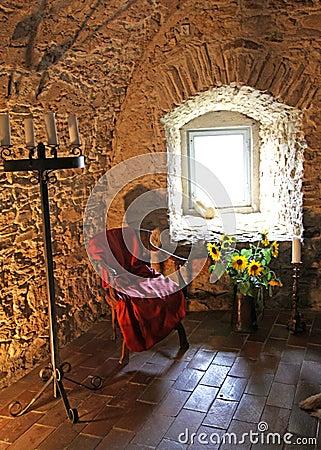 Interior of Spis Castle, Slovakia