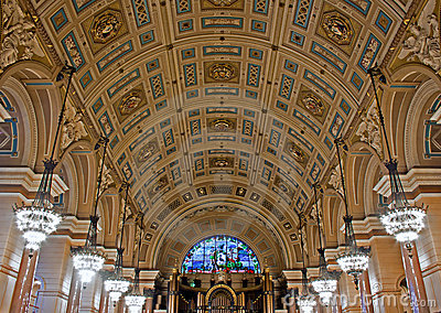 Interior of St Georges Hall, Liverpool,
