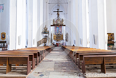 Interior of St. Mary s Basilica in Gdansk