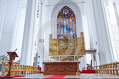 Altar of St. Mary s Basilica in Gdansk