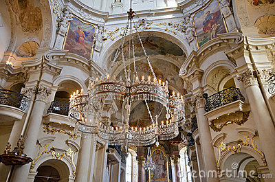 Interior of St. Nicholas Church, Prague