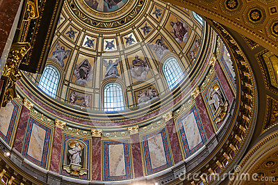 Interior of St. Stephen s Basilica Editorial Stock Image