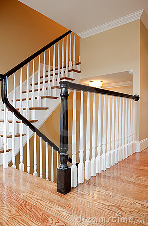Free Interior Staircase, New Construction Stock Photo - 12369570