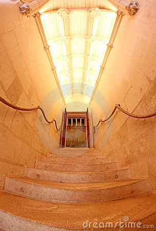 Interior Stairway at Chateau de Chenonceau France