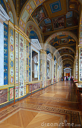 Interior of State Hermitage. Saint Petersburg Editorial Stock Image