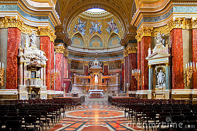 Interior of Stephen s Basilica in Budapest