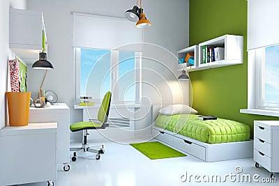 Interior of teenager