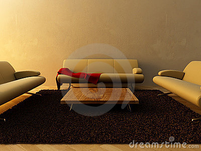 Interior - Three couch on sitting room