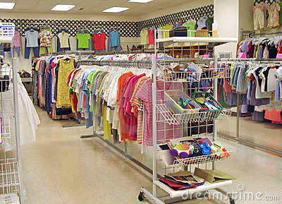 Interior of thrift shop