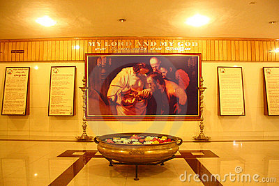 Interior - Tomb of Saint Thomas at Santhome Church Editorial Stock Image