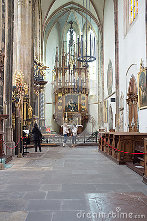 Church of Mother of God before Týn in Prague Editorial Photo