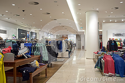 Clothing store in Prague Editorial Photography