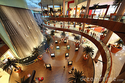 Interior View of Dubai Mall Editorial Photo