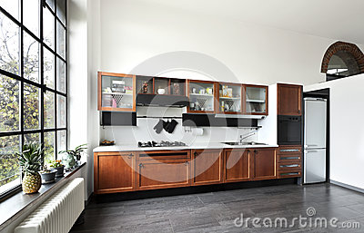 Interior, View Of The Kitchen Stock Image - Image: 27972941