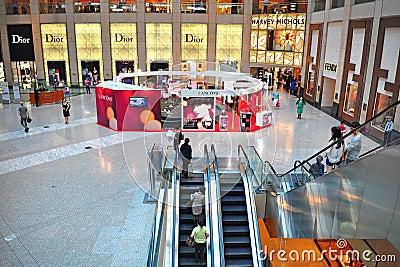Interior view of the landmark, hong kong Editorial Image