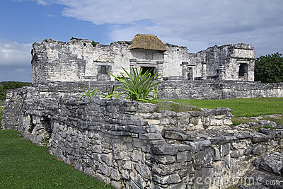 Interior View of Mayan Palace Ruins at Tulum