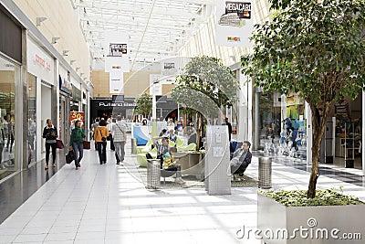 Interior View of Mega Mall Editorial Photo