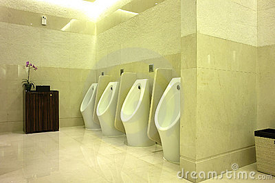 Interior View of Men s Toilet