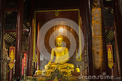 Interior, Wat Phan Tao, Tailândia