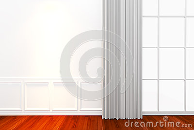 Interior white wall