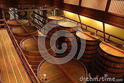 Interior of a winery in Sonoma, California
