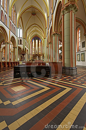 The interior of Woerden Cathedral