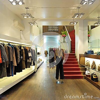 Interior of a women boutique store