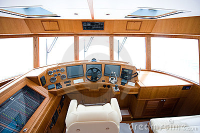 Interior of yacht
