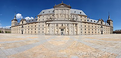 Interior yard of El Escorial Editorial Photography