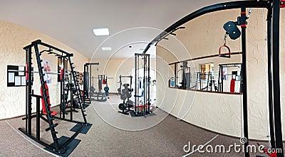 Interiore di ginnastica moderna