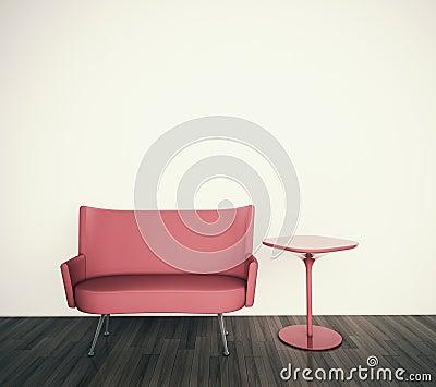 Interiore minimo con il singolo strato