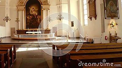 Interiors of church. Stockholm. Sweden. Interiors of church. Stockholm Sweden stock footage