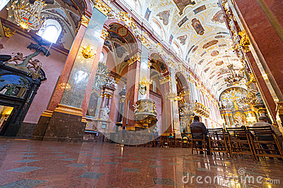 Interiors of Jasna Gora monastery in Czestochowa Editorial Stock Photo