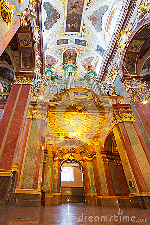 Interiors of Jasna Gora monastery in Czestochowa Editorial Photography