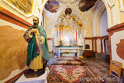 Interiors of Jasna Gora monastery in Czestochowa Editorial Photography
