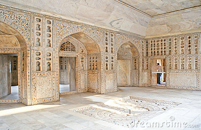 Interiors of Musamman Burj in Agra Fort, India. Editorial Stock Image