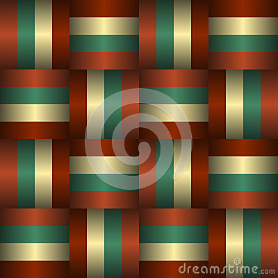 Interlaced Ribbons Seamless Pattern