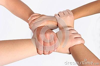 Interlocked händer
