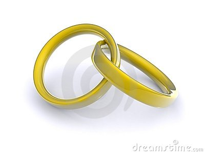 Interlocking gold rings