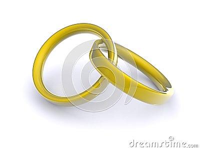 Interlocking gold rings