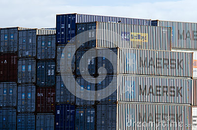 Intermodal containers Editorial Stock Photo