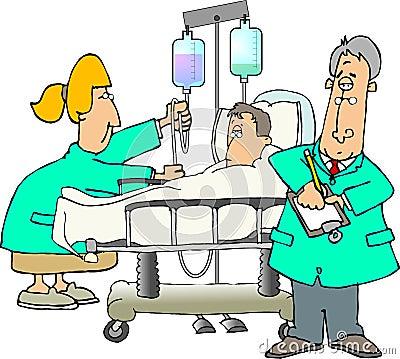 Intern verpleegde patiënt